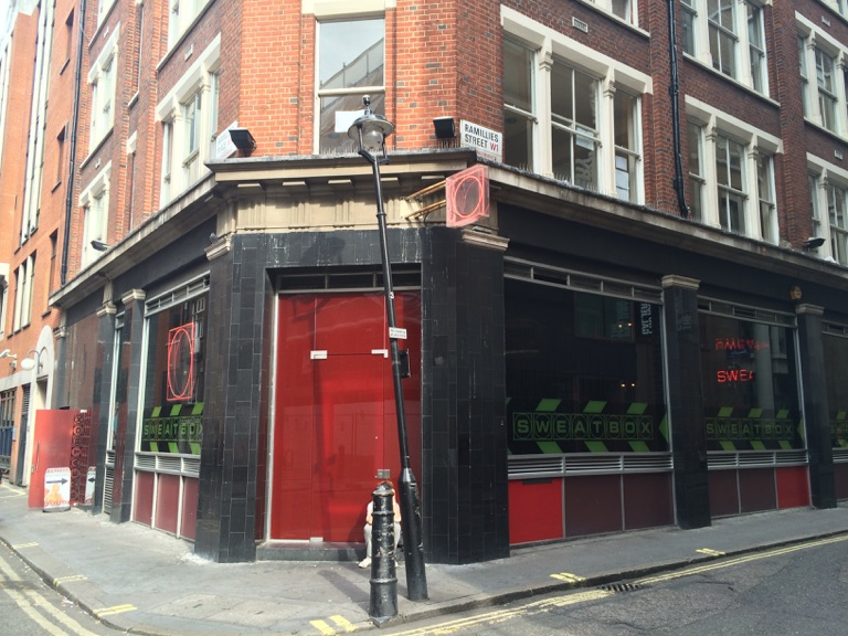 The outside of Sweatbox Soho